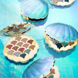 $enCountryForm.capitalKeyWord Australia - New idea laser 14 colors shimmer matte Pigmented Diamond Glitter mermaid eye shadow dish shell eyeshadow palette