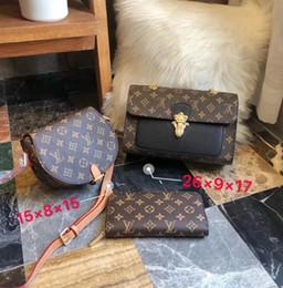 Luxury Chains Australia - Lv 1FLouis Vuitton 2019 Fashion 3-piece Set Brand Bags Women Luxury Package Pu Leather Chain Bag + Dionysian Bag + Wallet