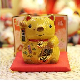 $enCountryForm.capitalKeyWord Australia - China original single ceramic pig lucky pig crafts ornaments gifts giveaway piggy bank