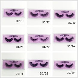 MediuM eyelashes online shopping - Medium and long section D Mink Eyelashes Eye makeup Mink False lashes Soft Natural Thick Fake Eyelashes style DHL free