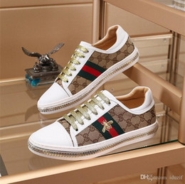 $enCountryForm.capitalKeyWord NZ - With Box designer luxury shoes Casual Shoes white mens women sneakers advanced material Bee flower snake heart love Genuine Leather