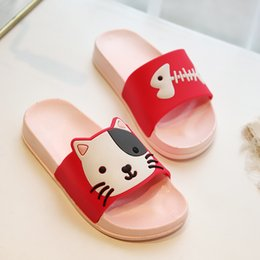 $enCountryForm.capitalKeyWord Australia - 2019 New Summer Fashion Child Sandals New Children's Cartoon Cat Cave Shoes Boys Girls Antiskid baby Slippers Beach Shoes