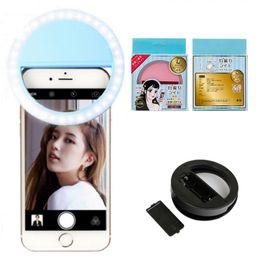 $enCountryForm.capitalKeyWord Canada - Portable Flash Selfie Ring Light Led Flash Lamp Photography Ring Light Lighting Camera Photography for iPhone Samsung with Package box