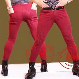 Zipper Erotic Australia - Men Plus Size Tight Jeans Hair Stylist Singers Dancer Trousers Slim Fit Pencil Pants Boots Pants Male Erotic Trousers Legging K #351725