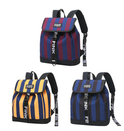 Girl s Vintage Striped Cosmetic Bag Navy Style Men and Women School Backpack  Bag Drawstring Nylon Bookbag for Daily Essentials 99782c55ee427