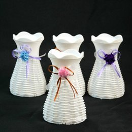 $enCountryForm.capitalKeyWord Australia - New Unbreakable Reusable Plastic Flower Vase Creative Fashion Magic Plastic Pots 10cm*16.5cm Mix Color Home Decoration
