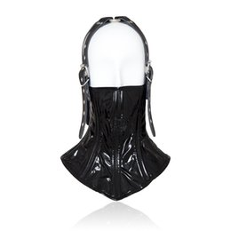 $enCountryForm.capitalKeyWord NZ - Sexy Bondage Fetish Mouth Mask erotic Sex Toy For Woman Couple Restraint Adult Game PU Leather Hood Mask juguetes