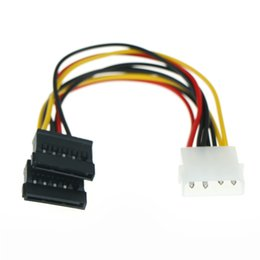 Computers hard drive online shopping - 2pcs Y Splitter Hard Drive Power Computer Cable Pin IDE Power Splitter Male to Female ATA SATA Power Cable Supply Cable
