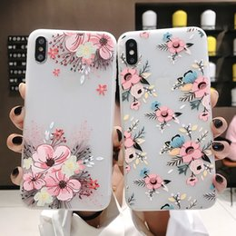 Peach iPhone online shopping - New mobile phone case for iPhone Samsung s10Plus embossed peach phone case s10e creative silicone case bossed anti fall protective cover