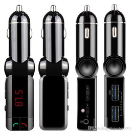 audi usb mp3 Australia - BC06 Universal Cell phone USB Car Charger Bluetooth Car Kit MP3 Audio Player FM Transmitter Double USB Car Charger for Audi HuaWei S8