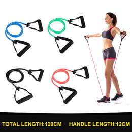 tube yoga equipment Australia - 120cm Elastic Band for Fitness Equipment Resistance Bands Yoga Pull Rope Tube Rubber Bands Workout Training Expander Exercise