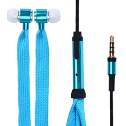 Shoelace headSet online shopping - Metal Shoelace Earphones With Mic Colors Headphones For LG Samsung s8 plus iphone s plus MP3 MP4 Earphone Headphone Headset
