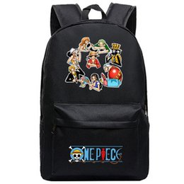 73034589d7e4 Anime One Piece Trafalgar Law Luffy Backpacks Student School Bag Cartoon  Rucksack Travel Pack Laptop Bag Big Strong Backpack