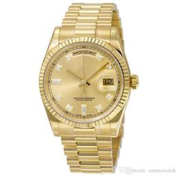 Alta qualidade relógio por atacado DAY DATE deslizamento mecânico suave 40 MM mens carvalhos reais relógio pulseira de aço Inoxidável pulseira de relógio de Pulso venda por atacado