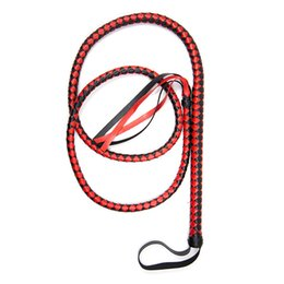 $enCountryForm.capitalKeyWord Australia - 190cm Hand Made Snake Leather Whip With Lashing Handle Spanking Paddle Scattered Whip Erotic Sex Toys For Adult Games SH190730