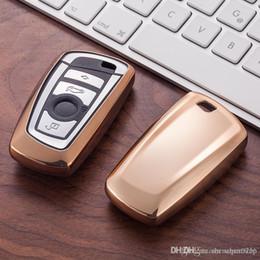 Ingrosso Holder caso della copertura di TPU Car Key Portafogli Set della pelle per BMW E30 E36 E90 E60 E84 E36 E53 E63 E90 F10 F30 x1 x3 x4 fob protettore remota