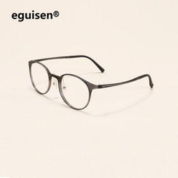 $enCountryForm.capitalKeyWord Australia - Ultra-light tungsten carbon steel tube nose pads myopic eyeglasses frames women men round retro optical brand eyewear frames