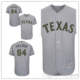 3d8f8af2a custom 2019 Men s Rangers 84 Prince Fielder Texas Gray Fashion 2016  Memorial Day Flex Base women kids Jersey