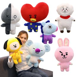 Wholesale comics video games for sale – custom 17 cm Cute Bangtan Boys BTS bt21 stuffed animals Plush Toy TATA VAN COOKY CHIMMY SHOOKY KOYA RJ MANG Gift Pillow Cushion kids toys