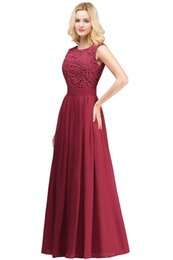 $enCountryForm.capitalKeyWord UK - Blush Pink Split Long Bridesmaids Dresses 2019 Sheer Neck cotta Appliques Lace Maid of Honor Country Wedding Guest Gowns Cheap
