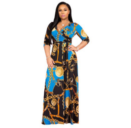 $enCountryForm.capitalKeyWord UK - 2019 Dashiki African Dresses For Women Top Bazin African Traditional Private Custom Clothes One Piece Half Sleeve Loose Dress