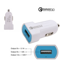 $enCountryForm.capitalKeyWord Australia - Single port QC3.0 Fast Car Charger QC3.0 3.1A output Mini Car Charger for iPhone Moblie Phone