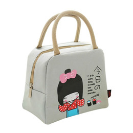 lunch box cartoons Australia - Portable Cartoon lunch box bag Thermal Cooler Insulated Storage Picnic Bag