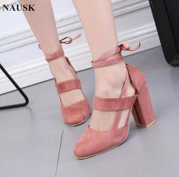 Red gladiatoR pumps online shopping - Designer Dress Shoes NAUSK Factory Price Sexy Gladiator High Heels CM Women Pumps Wedding Dress Woman Valentine Stiletto High Heels