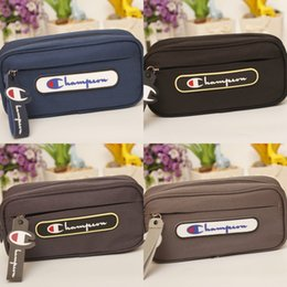 Stationery Australia - Oxford Cloth Pencil Case Champion Storage Bag For Children Students Stationery Colors Mix Bardian Fashion 16lz F1
