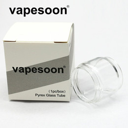Wholesale Authentic VapeSoon Replacment Fat Extend Bulb Glass Tube For TFV MINI V2 TFV8 BABY V2 Stick M17 TFV12 Prince TFV8 BIG BABY Fast Shipping