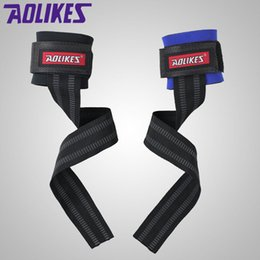 $enCountryForm.capitalKeyWord Australia - AOLIKES 1 Pair No-Slip Thicken Gym Training Weight Lifting Gloves Bar Grip Barbell Straps Wraps Hand with Wrist Support #453074