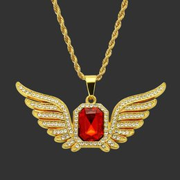 $enCountryForm.capitalKeyWord Australia - Hip Hop Jewelry Shellhard Rhinestone Gold Color Square Red Crystal Pendant Necklaces For Women Men Jewelry Long Chain Necklace