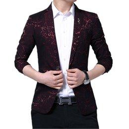 $enCountryForm.capitalKeyWord Australia - Mens Fashion Dance Blazer Masculino Coats Male Pattern Business affairs Wedding Stage Long sleeve Suit Jackets Slim coat M-5XL