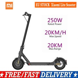 Xiaomi Mi Lite Electric Scooter Adult 20km h Balance Foldable Smart Scooter 250W Motor Original Xiaomi Electric Scooter on Sale