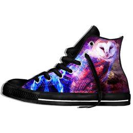 $enCountryForm.capitalKeyWord Australia - 2019 Hot Fashion God Owl 3d Casual Shoes For Men women High Quality Harajuku 3d Printing God Owl Canvas Shoes