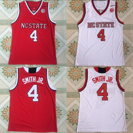 Discount top jersey shirt basketball - 4 Dennis Smith Jr. NC State Wolfpack College Basketball Jerseys Stitched Men Basketball Jersey Free Shipping