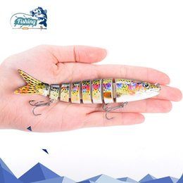 muskie lures 2019 - Fishing Lure 13cm 19.5g 8-segement Isca Artificial Pike Lure Muskie Fishing Lures Swimbait Crankbait Hard Bait Fishing A