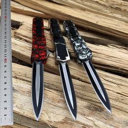 $enCountryForm.capitalKeyWord Australia - Cool 616 Dual action automatic knife Army Digi Camo 440C Steel Survival EDC Pocket Collection gift knives