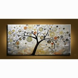 Hand art painting online shopping - 100 Hand painted Modern Wall Decor Art Abstract Oil Painting On Canvas no Framed tree wall art pintura