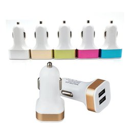 charger 1a Australia - Car Charger 2.1A+1A Dual usb ports Aluminum Alloy metal Car Charger Adapter for samsung htc mp3