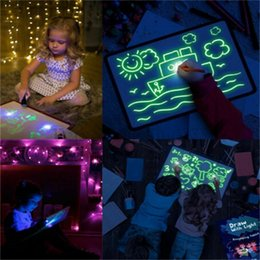 $enCountryForm.capitalKeyWord Australia - Draw With Light Fun Drawing Board Toys Painting Supplies Baby Toys Magic Draw Educational Creative Home Luminous Hand writing Board W481T