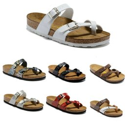 unisex sandals Canada - Wholesale 12 Color Mayari Florida Arizona Hot Sell Summer Men Women Flats Sandals Cork Slippers Unisex Beach Slippers Size 34-46 In Stock