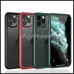 iphone glass screens for sale NZ - Hot sale Full Body Sturdy Built-in Screen Tempered Glass Grip Plastic TPU Slim Transparent Phone Cover for iphone 11 pro max phone case