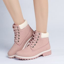 shoes for plus sized women Australia - Fashion Outdoor Winter Ankle Boots Women Winter Boots For Camping Mountain Boots Women Winter Shoes Plus Size Women Boot Lace-up PU Leather