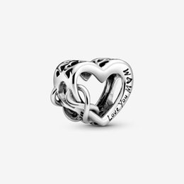silver mum bracelet UK - New Arrival 100% 925 Sterling Silver Love You Mum Infinity Heart Charm Fit Original European Charm Bracelet Fashion Jewelry Accessories