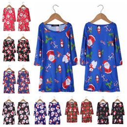 Wholesale baby dress animal costume online – ideas Baby Girl Clothes Kids Christmas Dresses Baby Snowman Santa Dress Xmas Printed Party Dresses Long Sleeve A Line Costume Baby Clothing D6270