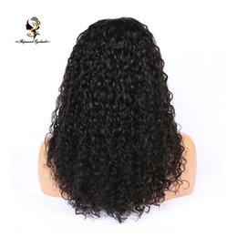 Hair Waves Online Australia - QDRapunzelHair Online sale black curly large african american wigs human hair full lace wig
