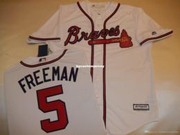 $enCountryForm.capitalKeyWord Australia - Cheap custom MENS MAJESTIC Atlanta #5 FREDDIE FREEMAN Baseball Cool Base JERSEY Mens stitched jerseys Big And Tall SIZE XS-6XL For sale