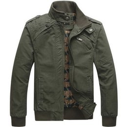 mens military outerwear 2019 - Men jacket Casual cotton washed coats Army Military Outdoors Stand collar Outerwear jaqueta masculina Coat parka mens Ja