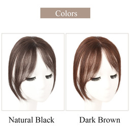 Salonchat 3D Bangs 100% Human Hair 25CM Natural Hairpin In Bangs Front Side Fringe Hair for Women Clip In Extensions on Sale
